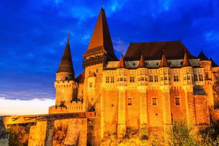 Hunedoara, Romania.Hunyad Castle  Corvins Castle in Hunedoara, Romania.