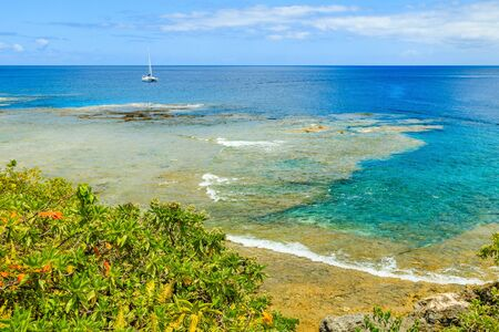 Alofi, Niue. Coastline of Alofi, Niue, South Pacific. 免版税图像
