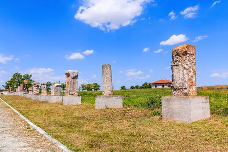 house of god: Dobrogea, Romania. Ancien ruins from Histria, Romania.