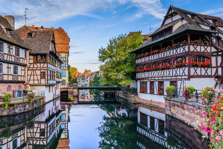 Strasbourg, France. Traditional half timbered houses of Petite France. 写真素材