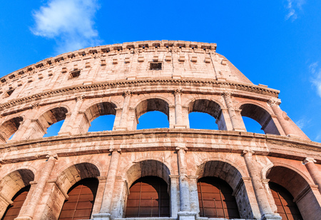 Rome, Italy. Detail of the roman Colosseum. 写真素材
