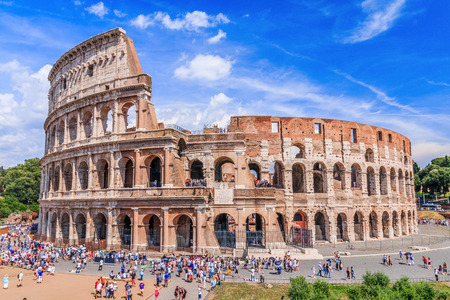 Rome, Italy. Panoramic view of Colosseum in Rome.