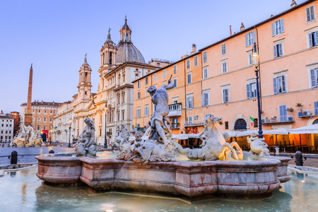 Rome, Italy. Piazza Navona and Fountain of Neptune in Rome, Italy. 写真素材