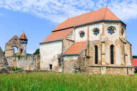 Carta, Sibiu. Ruins of medieval Cistercian abbey in Transylvania, Romania. Stock Photo