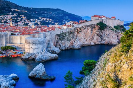 Dubrovnik, Croatia. A panoramic view of the walled city.