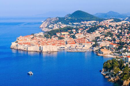 Dubrovnik, Croatia. Panoramic view of old town. Stock fotó