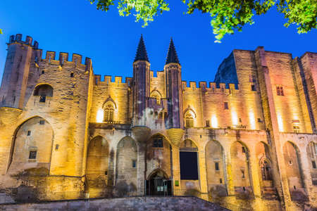 Provence, France. Palace of the Popes in Avignon, one of the largest and most important medieval Gothic buildings in Europe. Sajtókép
