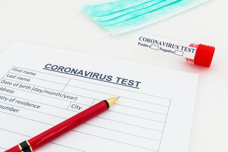 Coronavirus 2019-nCoV blood test concept.