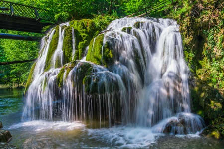Waterfall Bigar, Caras Severin, Romania. Located at the intersection with the parallel 45 Romania in Anina Mountains. Stock fotó