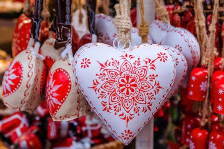 Christmas decorations at the Christmas Market in Salzburg, Austria. Foto de archivo