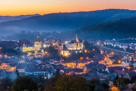 Sighisoara, Romania. Sighisoara with historical city of Transylvania, Romania.