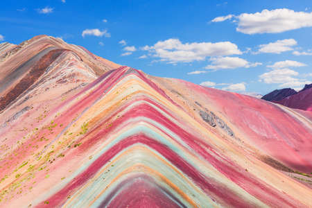Vinicunca, Peru. Montana de Siete Colores or Rainbow Mountain. Stock fotó