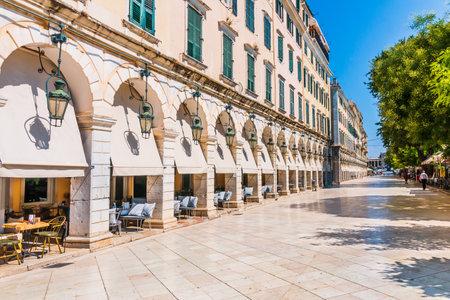 Corfu, Greece. The historic center of Corfu town, Greece.