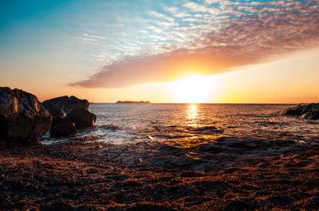 A breathless capture of the golden hour in Colonia Del Sacramento, Uruguay with a view to Rio De La Plata.