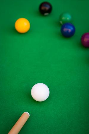 billiards halls: Close-up of billiard or pool game situation