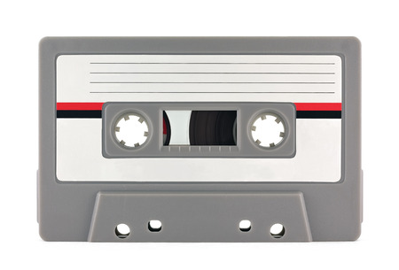 audio cassette: Audio cassette isolated on white background