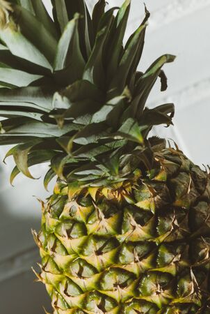 pineapple fruit close up for Summer diet .