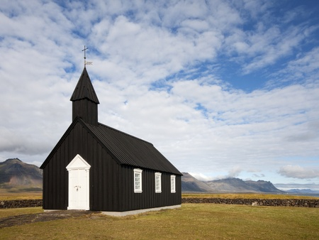Islandic wooden church photo