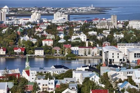 iceland: View of Reykjavik, Iceland Stock Photo