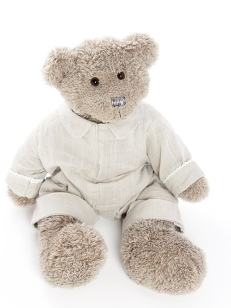 Cute teddybear with clothes on Stock Photo