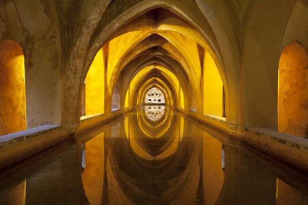 Baths of Maria Padilla in the Royal Alcazar Palace, Seville, Spain Editorial