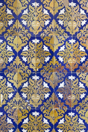 Ceramic wall tiles on Plaza de Espana in Seville, Spain