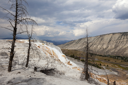 Mammoth Hot Springs, Yellowstone National Park Stock Photo