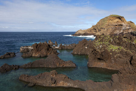 Natural lava-rock pools in Porto Moniz, Madeira, Portugal