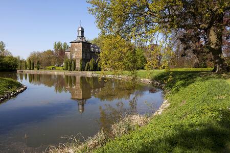 Beautiful view of Castle Rullingen in Belgium