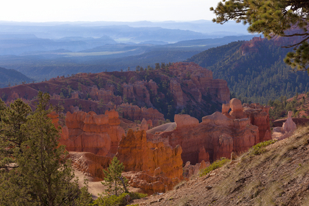 View at Bryce Canyon in the morning light Stock Photo