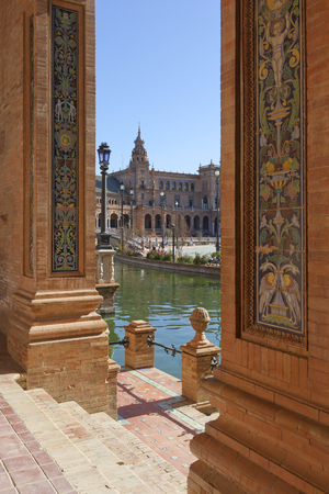 View of Plaza de Espana in Seville, Spain Stock Photo
