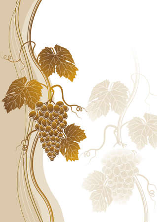 bunch of grapes: Grapes background Illustration