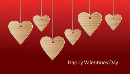 greeting card of Happy Valentines day