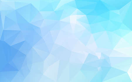 ブルーの色調で多角形の抽象的な背景  イラスト・ベクター素材