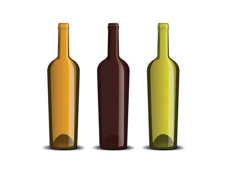 blanc: Prototipo de la botella de vino Vectores