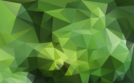 abstract poligonal background in green tones