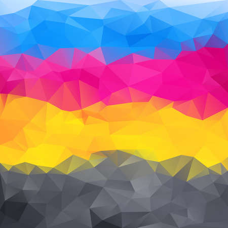 abstract poligonal background in cmyk colors