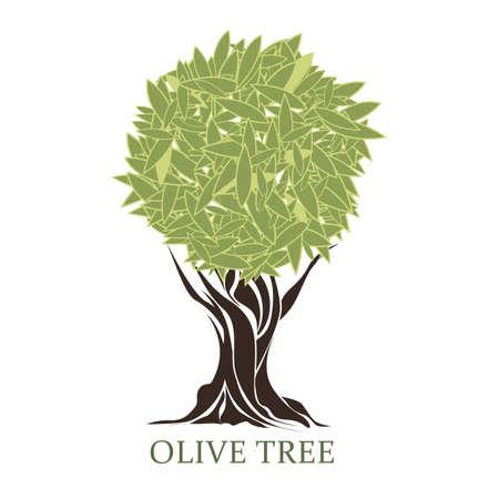 olivo arbol: logo en forma de un árbol de oliva estilizada