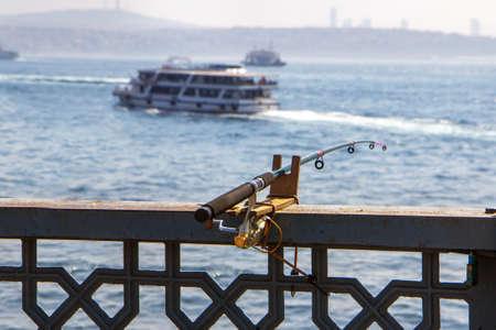Fishing on the Galata bridge in Istanbul