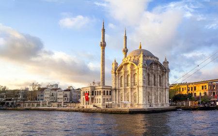 Beautiful landscape Ortakoy Mosque and Bosphorus Bridge, Istanbul Turkey, best touristic destination of Istanbul.
