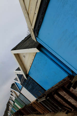bournemouth: Abstract Beach Huts Bournemouth Dorset England
