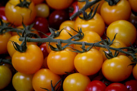 cherry tomatoes: Abstract Cherry Tomatoes Stock Photo