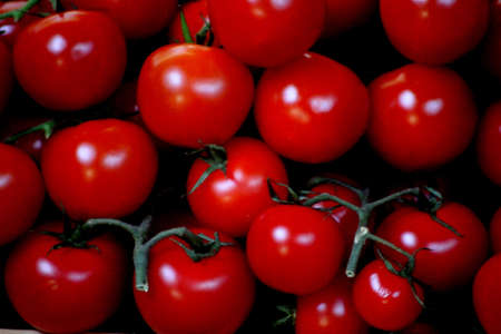 vegtables: Abstract Cherry Tomatoes Stock Photo