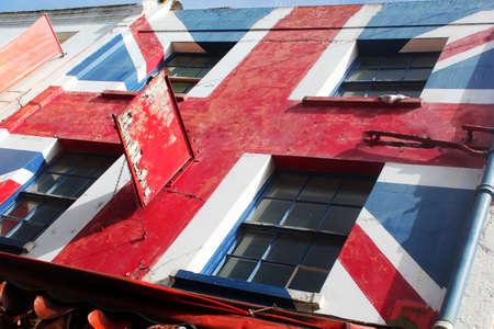 britan: Abstract Union Jack Building