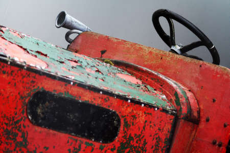 rustic: Old fashioned Rustic Tractor