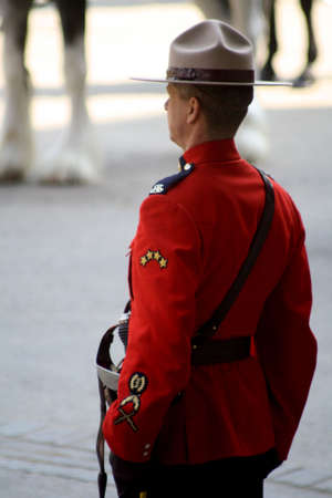 mounted: Royal Canadian Mounted Police