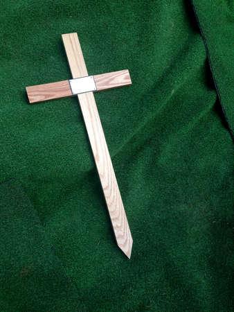 catholism: Religious Christian Cross Scene Stock Photo
