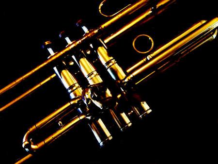 Abstract Trumpet Scene Stock Photo