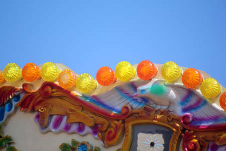 Abstract Colourful Carousel Scene Brighton West Sussex England