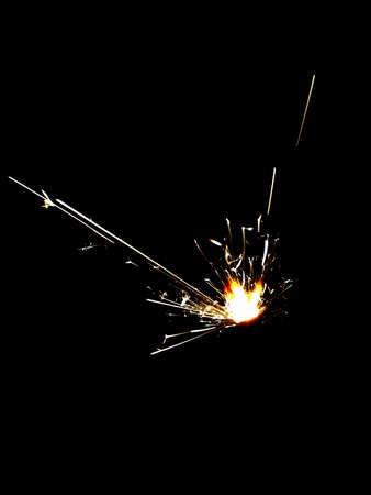 Firework Night Sparks Stock Photo